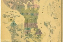Anderson Map Co's Official Map of Greater Seattle, circa 1090