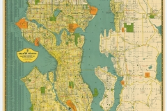 Kroll's Greater Seattle Map, circa 1940s