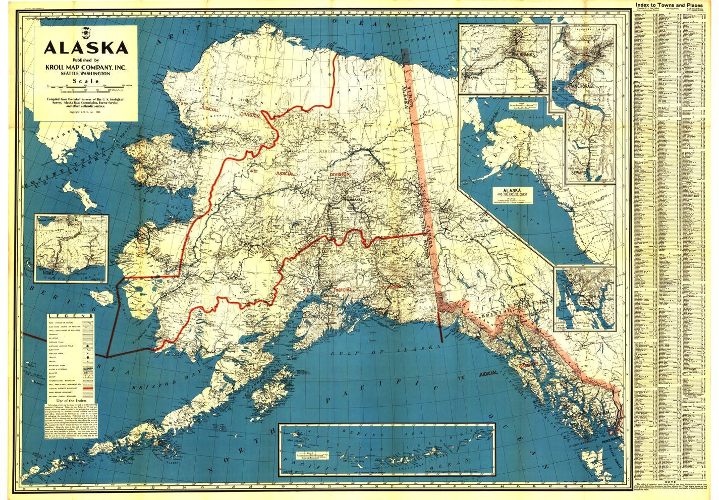 Alaska Historical Maps Kroll Map Company - Maps alaska