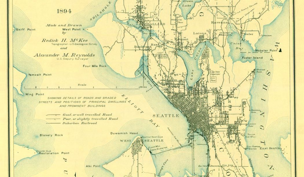 McKee's Map of Seattle, circa 1894