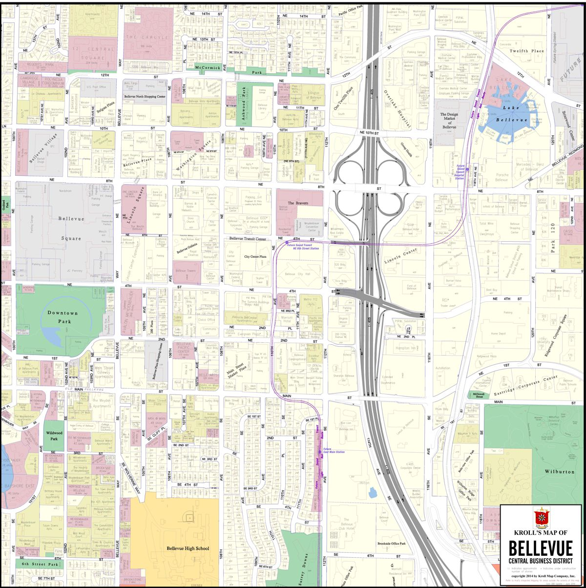 Central Business District Maps Kroll Map Company