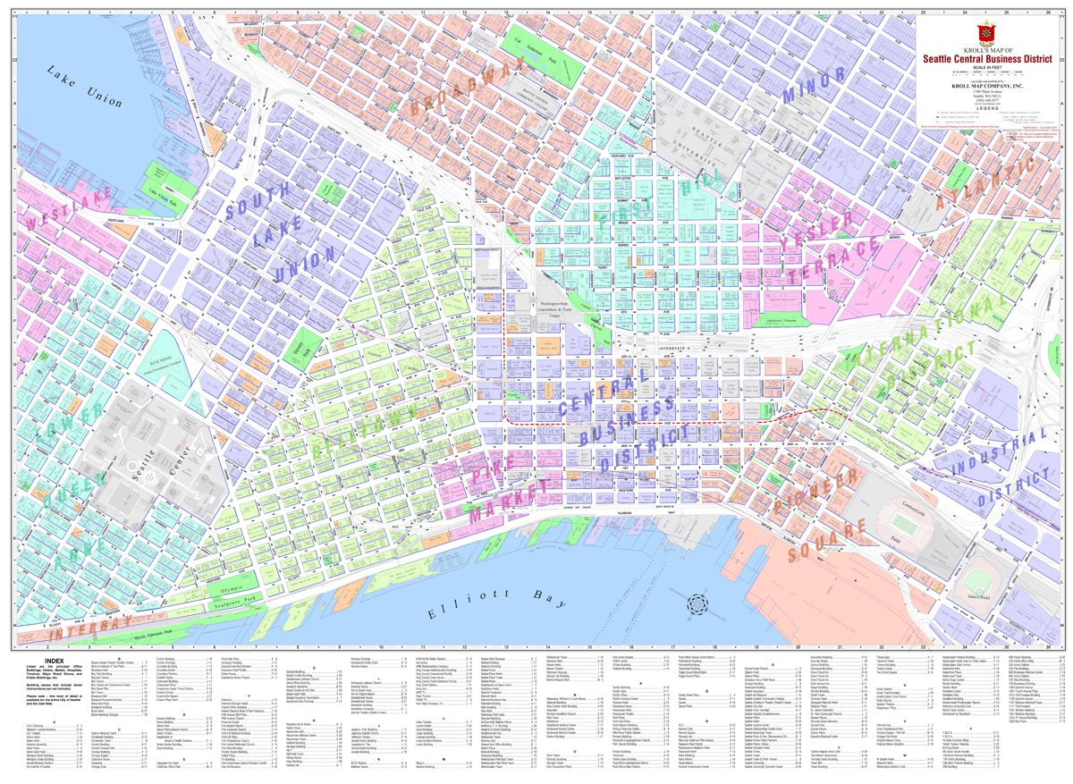 Seattle CBD Neighborhood Kroll Map Company