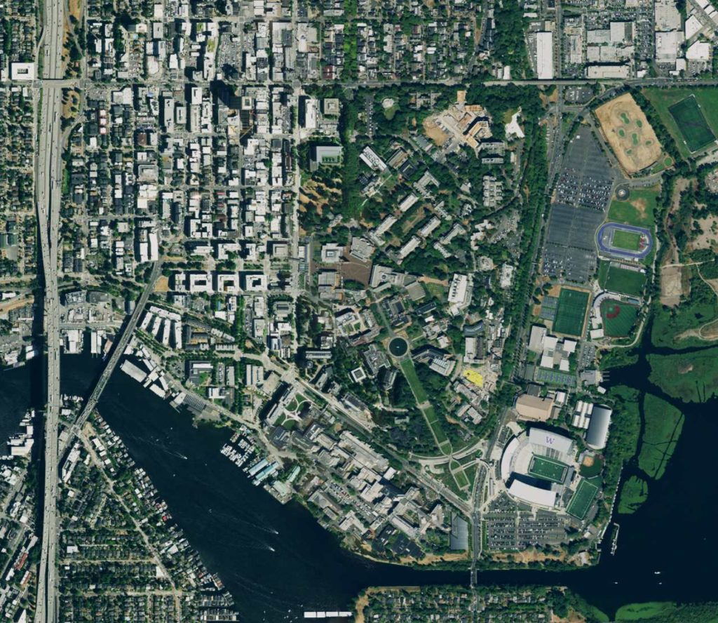 University of Washington Aerial Photo Detail